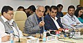 The New Vice Chairman of NITI Aayog, Dr. Rajiv Kumar interacting with the media after assuming office, in New Delhi on September 01, 2017. The CEO, NITI Aayog, Shri Amitabh Kant is also seen.jpg