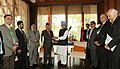 The Prime Minister, Dr. Manmohan Singh with the Prime Minister of Nepal, Dr. Baburam Bhattarai, at a Bilateral Meeting on the sidelines of the 17th SAARC Summit, at Adu Atoll, in Maldives on November 11, 2011 (1).jpg
