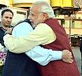 The Prime Minister, Shri Narendra Modi warmly received by the Prime Minister of Pakistan, Mr. Nawaz Sharif, at Lahore, Pakistan on December 25, 2015 (1).jpg