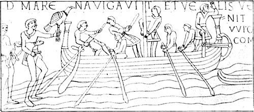 The Royal Navy, a History from the Earliest Times to Present Volume 1 - Chapter 2 -SHIP OF HAROLD'S FLEET. (From the Bayeux Tapestry.).jpg