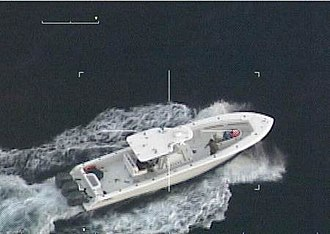Sentinel-class cutter - Image: The USCG pursued this 35 foot vessel, stolen from Fort Myers Florida, in December 2015, for over 300 miles a