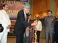 The Union Minister of New and Renewable Energy, Dr. Farooq Abdullah lighting the auspicious lamp at the inaugural function of All India Editors' Conference on Social and Infrastructure issues, in Srinagar on October 13, 2009.jpg