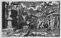 The Vision of Ezekiel; a group of corpses and skeletons emerging out of tombs, above them five winged putti holding a banderole MET MM85281.jpg