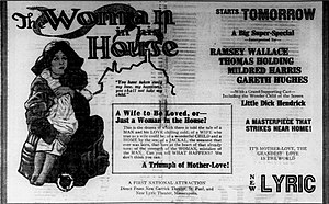 The Woman in His House (1920 film) - Newspaper ad