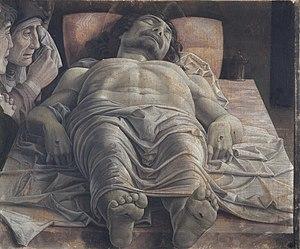 Мертвый Христос и три скорбящих, Андреа Mantegna.jpg