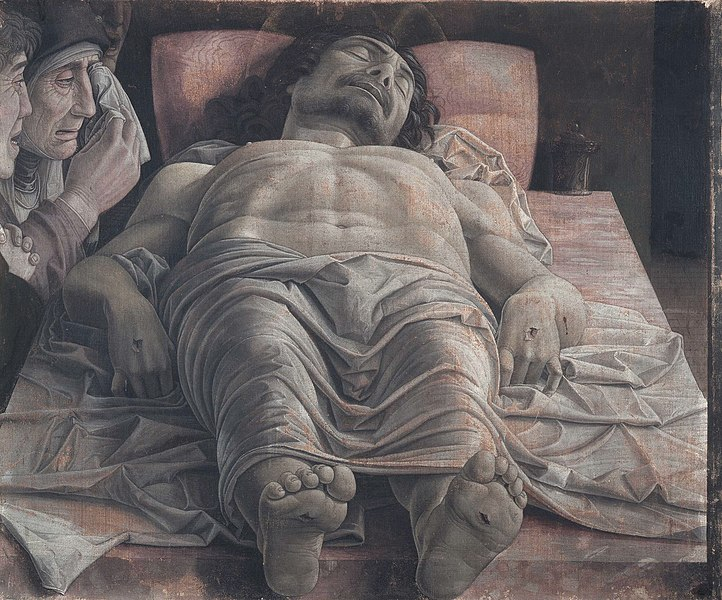 File:The dead Christ and three mourners, by Andrea Mantegna.jpg