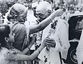 The first Indian Governor General of India, C. R. Rajagopalachari, had a Gandhian air and was very popular (cropped).jpg