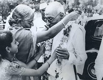 C. Rajagopalachari - During a 1948 tour of southern India, women in Mysore removing their gold necklaces and giving them to Rajagopalachari as a sign of honor