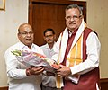 The former Chief Minister of Chhattisgarh, Dr. Raman Singh calling on the Union Minister Social Justice and Empowerment, Shri Thaawar Chand Gehlot, in New Delhi on June 14, 2019.jpg
