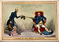 The gouty George IV using tongs to pass his discarded wig to Wellcome V0011363.jpg
