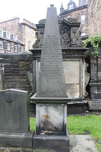 Adam Drummond - The grave of Adam Drummond, Greyfriars Kirkyard