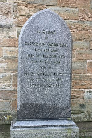 Alexander Adie - The grave of Alexander James Adie, St Michaels Churchyard, Linlithgow