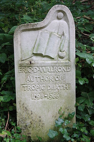 Eric D. Walrond - The grave of Eric D Walrond, Abney Park Cemetery, London