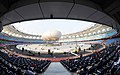 The inside view of the Jawaharlal Nehru Stadium, the main venue of the inauguration of 19th Commonwealth Games Delhi-2010, in New Delhi on October 03, 2010 (1).jpg