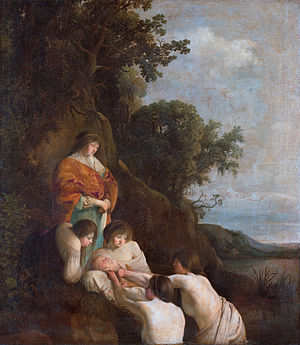 Finding of Moses - Paulus Bor and Cornelis Hendriksz Vroom, 1630s