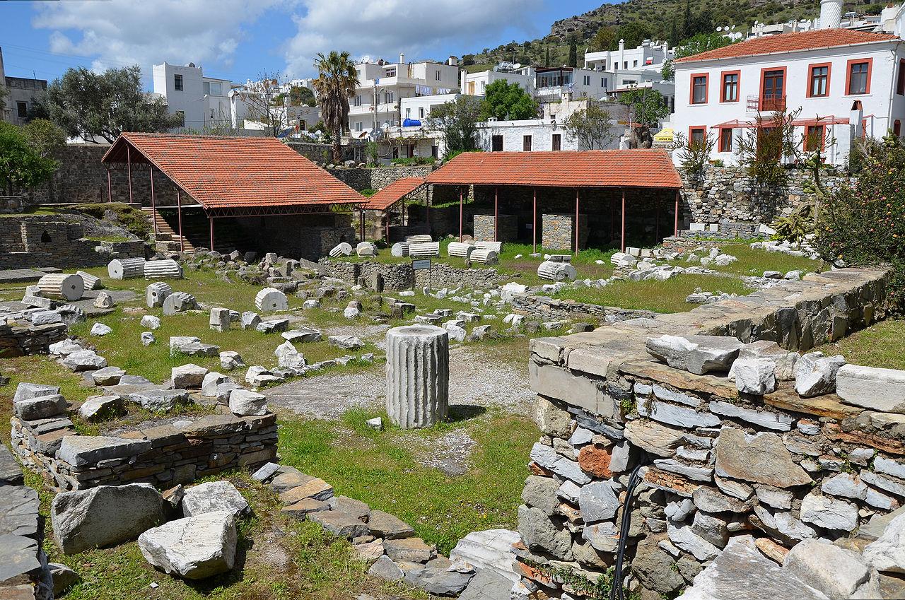 The ruins of the Mausoleum at Halicarnassus.jpg