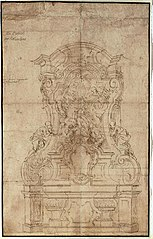 Preliminary sketch for the high altar of St. Michael's Church in Waarloos