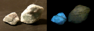 Thermoluminescence - Thermoluminescence of fluorite.