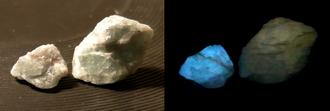 Thermoluminescence - Thermoluminescence of fluorite.