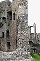 Thick walls, Great Tower, Raglan Castle - geograph.org.uk - 1531767.jpg
