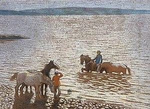 Thomas Corsan Morton -  Sun glitter on the Forth