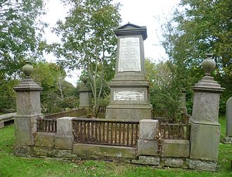 Thomas Grainger - Grainger's grave at Gogar