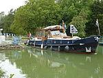 Thugny-Trugny, Canal des Ardennes écluse nr 8 (06 bateau sorti eau haute).JPG