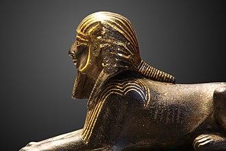 Bronze Sphinx of Thutmose III - Image: Thutmose III sphinx E 10897 IMG 0038 gradient