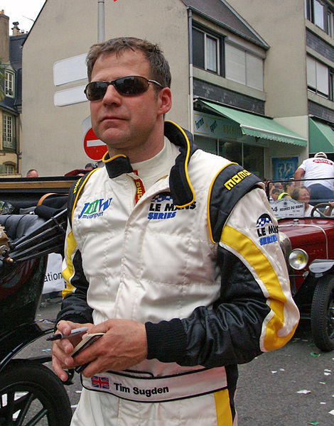 Tim Sugden, one of the drivers of Ferrari F430 GTC (No. 92) for JMW Motorsport Drivers' Parade Le Mans 2009