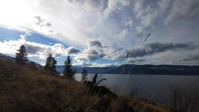 File:Timelapse of Winter's End at Bertram Creek Park overlooking Okanagan Lake, includes Snowmelt, Sunset and Venus Set.webm