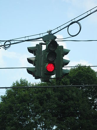 Tipperary Hill - Tipperary Hill's green-over-red traffic light