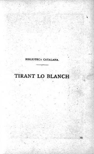 File:Tirant lo Blanch I (1873-1905).djvu