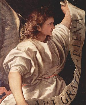 Averoldi Polyptych - Angel of the Annunciation