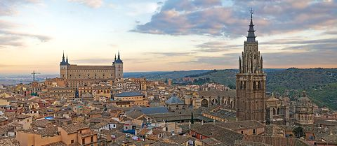 Toledo Skyline Panorama Spain Dec edit