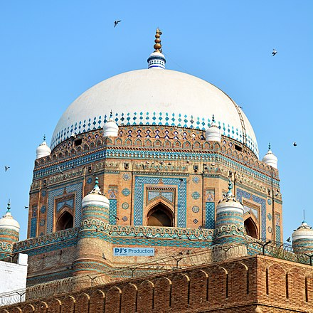 The Tomb of Shah Rukn-e-Alam is part of Pakistan's Sufi heritage. Tomb of Shah Rukn-e-Alam Multan.jpg