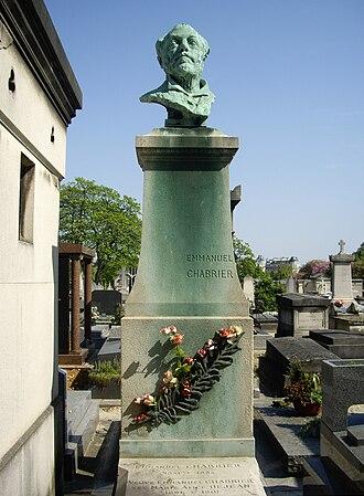Emmanuel Chabrier - Tomb of Emmanuel Chabrier, Montparnasse cemetery (division 9), Paris.