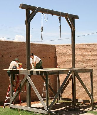 Gallows - These gallows in Tombstone Courthouse State Historic Park are maintained for historical purposes by Arizona State Parks.