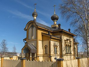 Finnish Orthodox Church - The wooden Orthodox church of Tornio (1884).