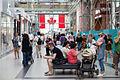 Toronto Eaton Centre scaffolding Canada flag.jpg