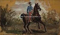 Toulouse-Lautrec - CHASSEUR A CHEVAL, 1879, MTL.4.jpg