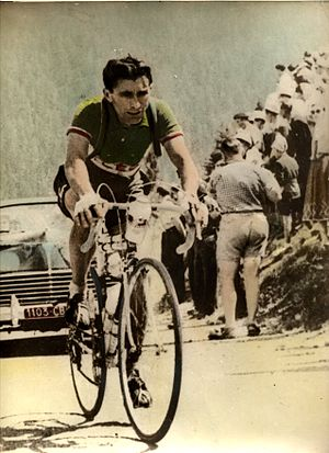Pietro Giudici - Pietro Giudici in the 1955 Tour de France