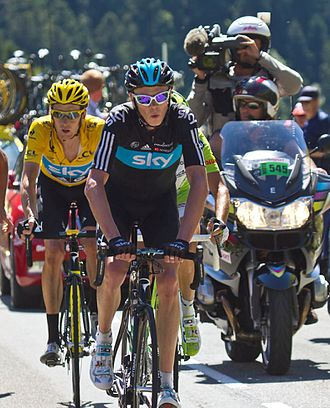 Chris Froome - Froome riding in support of Bradley Wiggins at the Tour de France, where he finished second to Wiggins in the general classification