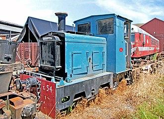New Zealand TR class locomotive - Hudswell Clarke TR 54 at Ferrymead Railway in 2012.