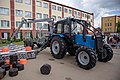 Tractors playing checkers (draughts) 3.jpg