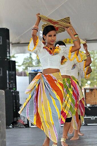 Traditional Sri Lankan harvesting dance