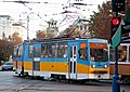 Tram in Sofia near Palace of Justice 2012 PD 021.jpg