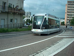 Nancy Guided Light Transit - Without rail or overhead lines