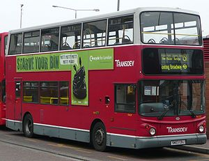 London Buses route 131 - Transdev London Alexander ALX400 bodied Dennis Trident 2 in Kingston in December 2008