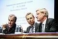 Tre nordiska utrikesminstrar - Jonas Gahr Stoere (Norge) - Alexander Stubb (Finland) - Carl Bildt (Sverige) - vid Nordiska radets session i Helsingfors. 2008-10-27.jpg