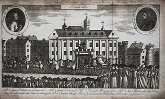 German mediatisation - Contemporary engraving celebrating the Treaty of Lunéville